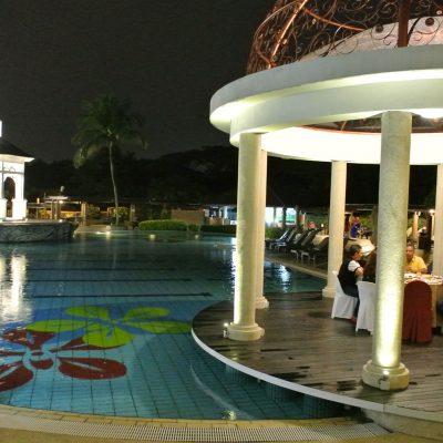 Beautiful scenic gazebo by the pool
